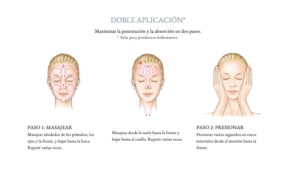 Masaje facial de Sensai